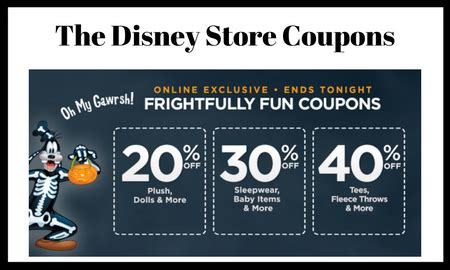 disney outlet printable coupons disney store coupons up to 40 off sleepwear dolls baby