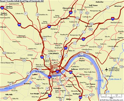 usa map cincinnati cincinnati map toursmaps
