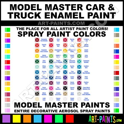 model master car and truck enamel spray paint aerosol colors model master car and truck enamel