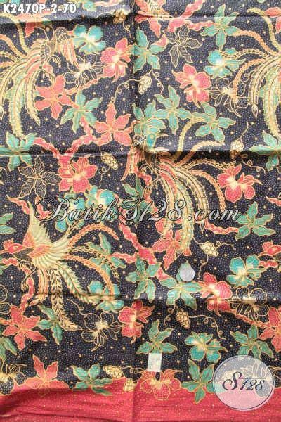 Dress Anak Erika Bunga Printing batik halus motif bunga dasar gelap kain batik printing