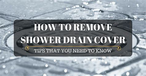 how to remove hair from bathroom floor shower drain cover image of diy remove shower drain