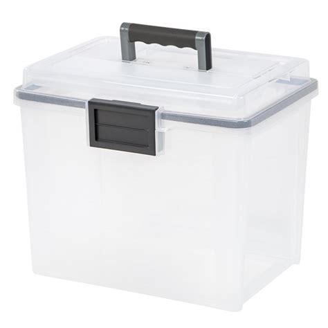 weather tight storage containers sterilite 6 qt storage box in white and clear plastic