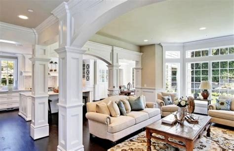 living room columns columns inside and outside the home 2015 interior