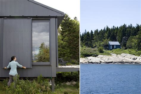 Green Home Design Maine Tiny Grid Cabin In Maine Is Completely Self Sustaining