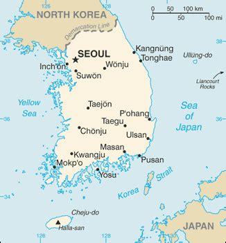 south korea city map towns in south korea