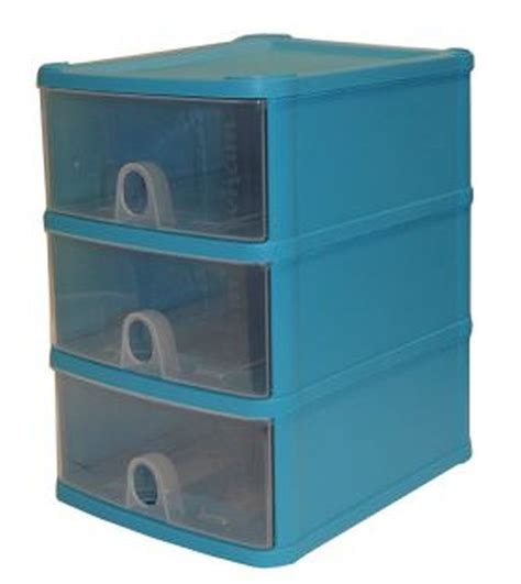 3 Drawer Plastic Storage Unit Buy Handi 3 Drawer Plastic Storage Unit Blueberry