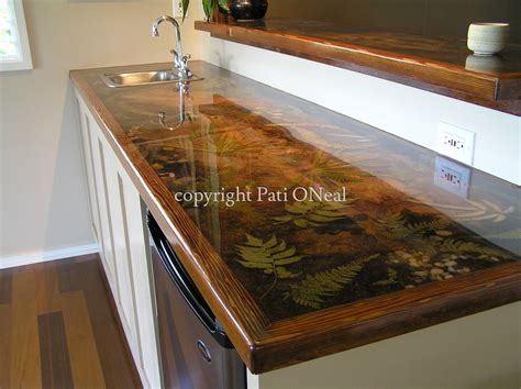 bar top resin decorative quot custom resin countertop quot original art by