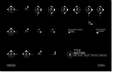 section cad block cad section symbols
