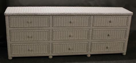 White Wicker Dresser by Hton Bay Wicker 9 Drawer Dresser All About Wicker