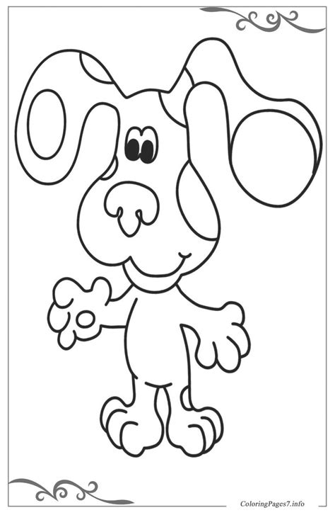 Blue S Clues Online Coloring Pages For Boys Boy Blue Coloring Page