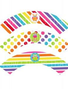 free printable owl cupcake wrappers owl cupcakes owl and cupcake wrappers on pinterest