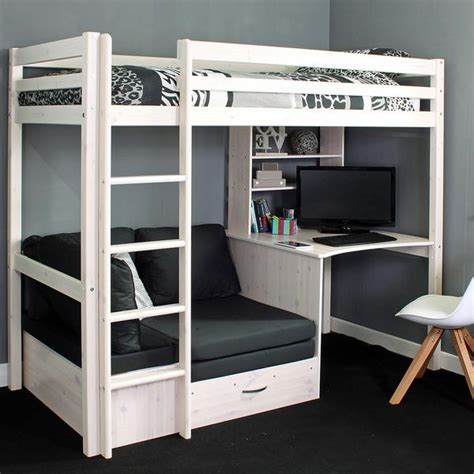 bunk bed with single futon and desk high sleeper loft beds with sofabed futon sofa desk