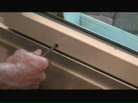 Adjusting Sliding Patio Doors Adjusting Sliding Glass Doors Youtube