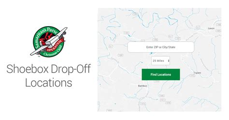 shoebox drop off locations