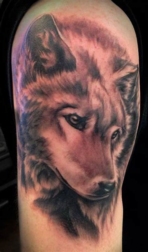 black and grey wolf tattoo black and gray wolf tats