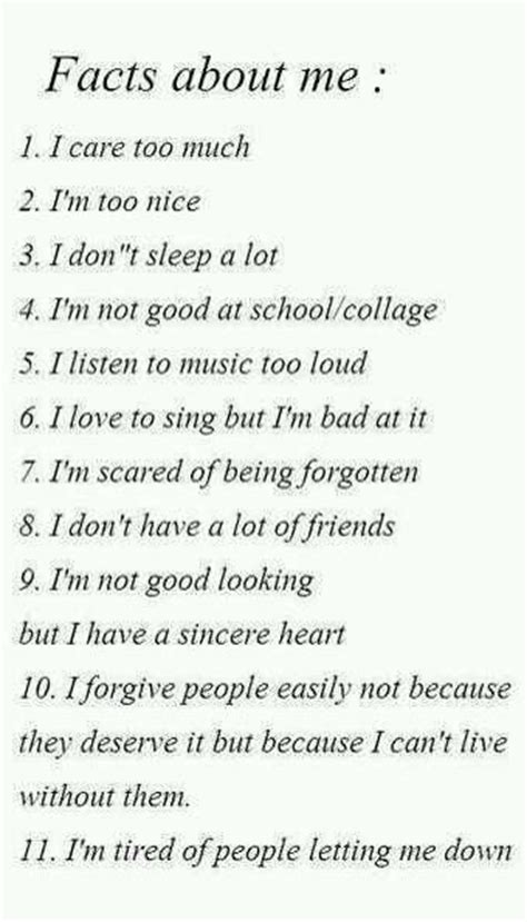 Another 7 Things About Me by Facts About Me Quotes
