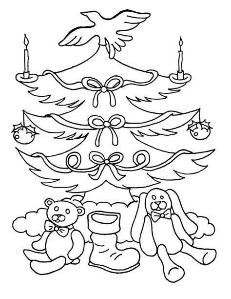 Free Printable Christmas Tree Coloring Pages For Kids Blank Color Page