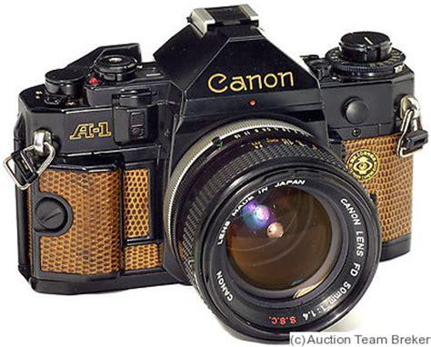 canon: canon a 1 'japan camera show' price guide: estimate
