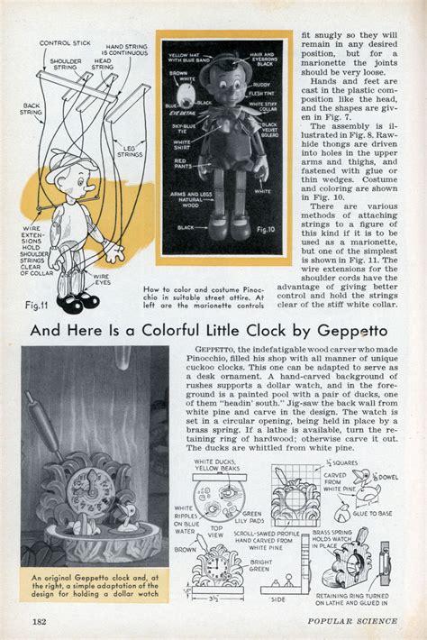 pinocchio  puppet modern mechanix page