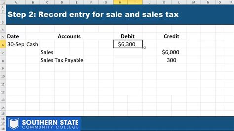 sales tax payable journal entries