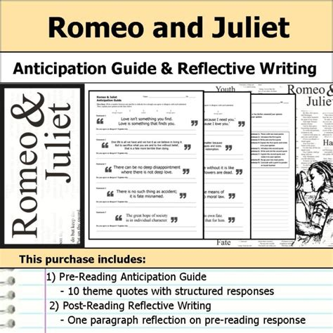 which theme of romeo and juliet is reflected in this excerpt anticipation guides reflections