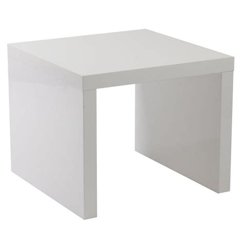 White Lacquer Table by Abril End Table White Lacquer End Tables