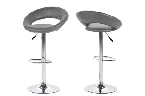 Grey Faux Leather Bar Stools by Caspian Faux Leather Grey Bar Stool Kitchen Bar Stools