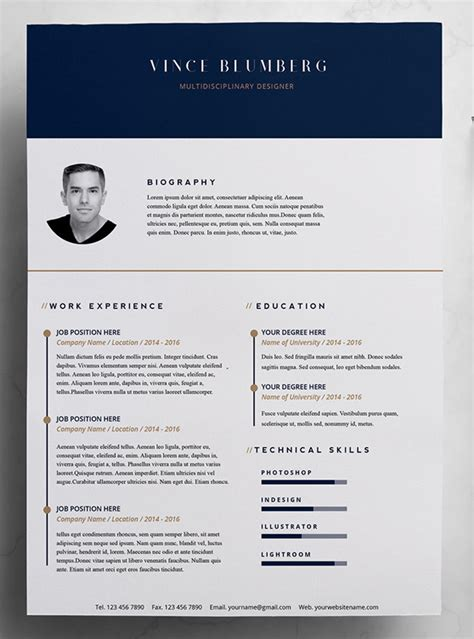 unique cover letter template 23 free creative resume templates with cover letter idevie