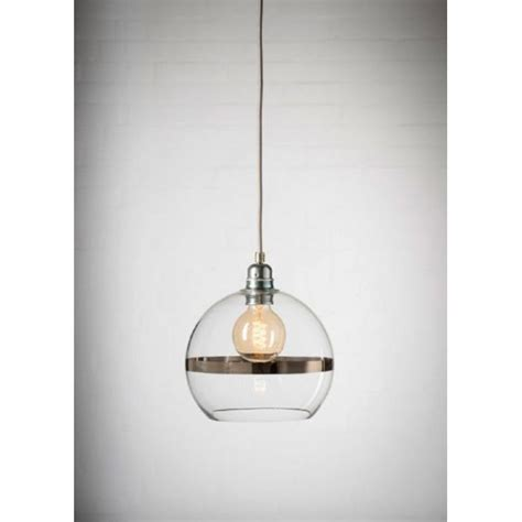 Small Pendant Lights Uk Mini Clear Glass Ceiling Pendant Shade With Platinum Stripe