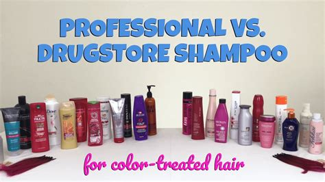organic shoo and conditioner for color treated hair professional vs drugstore the best shoo for color