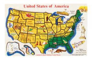 United States Puzzle Map by New Sealed Melissa Amp Doug Wooden Usa Map Puzzle United
