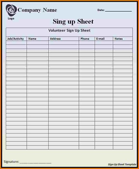 sign in sheet template sign in sheets templates authorization letter pdf