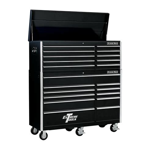 Husky 52 In 18 Drawer Tool Chest And Rolling Tool Cabinet by Husky 52 In 18 Drawer Tool Chest And Cabinet Set