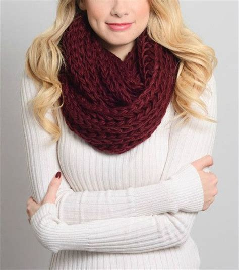 maroon knit infinity scarf gorgeous braided infinity scarf in burgundy measures 26