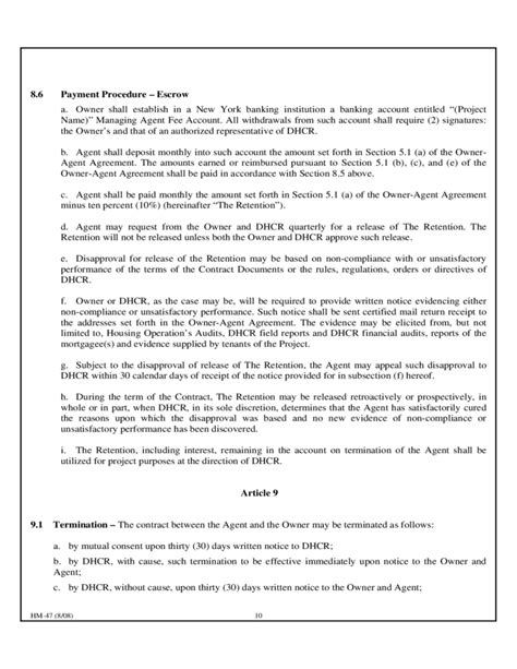 Dhcr Section 8 by Contract Template New York Free