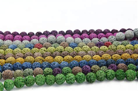 best quality lava l 10colors lava beads natural stone volcanic rock top
