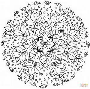 Floral Mandala Coloring Page  Free Printable Pages sketch template