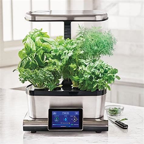 Countertop Herb Garden Kit by Aerogarden Harvest Touch With Gourmet Herb Seed Pod Kit Stainless Steel With More Aerogrow