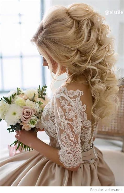 Wedding Day Hairstyles For Of The by Blond Curls Hair Style For The Wedding Day