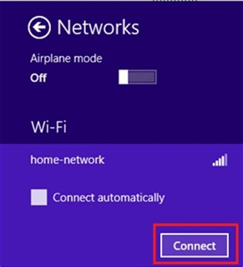 way for connecting to wireless network in windows 8
