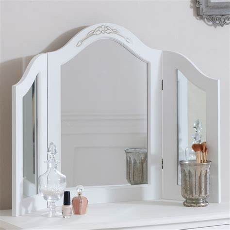 childrens dressing table mirror with lights white dressing table mirror melody maison 174
