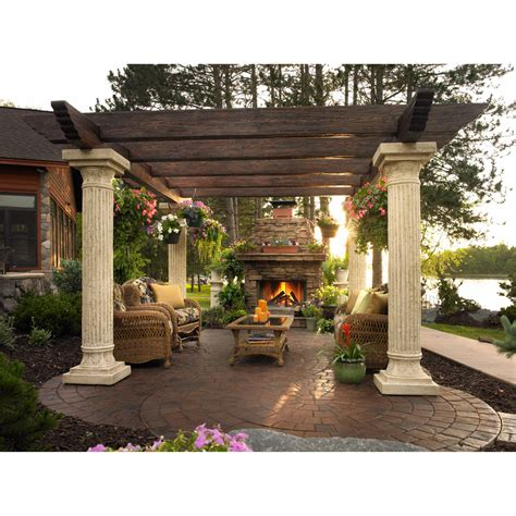 tuscan outdoor fireplace spa gazebos wooden pergolas in okemos mi