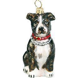 christmas ornament american staffordshire terriers and