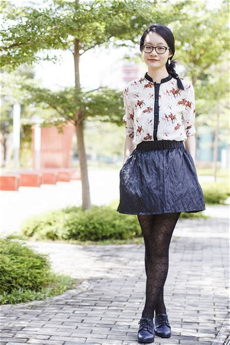 Clop Black Blouse oxford heels how to wear and where to buy chictopia