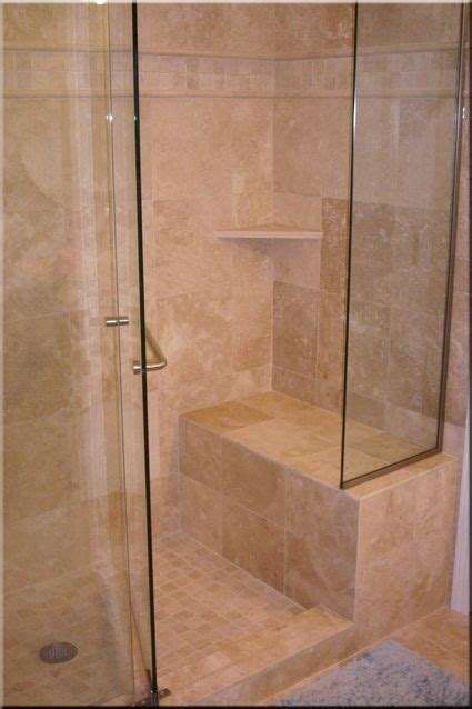 Tile Shower Stall Installation by Tiled Shower Enclosures With Seat Tiling Installation