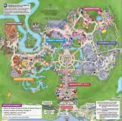 Walt Disney World Magic Kingdom Map by Walt Disney World Announces New Maps For The Magic Kingdom