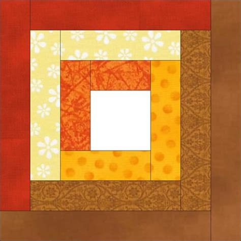 How To Make A Log Cabin Quilt Block by How To Make A Log Cabin Quilt Block