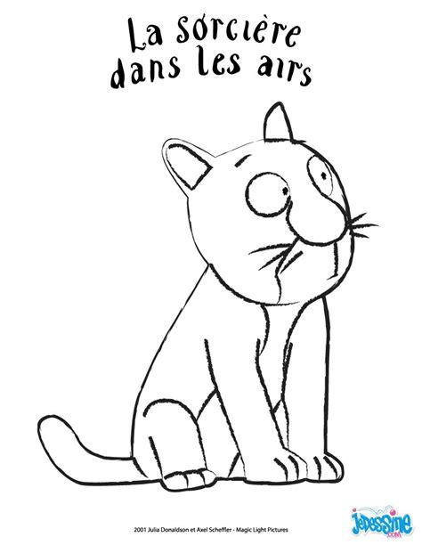 la sorciere dans les 2070661172 coloriages le chat fr hellokids com