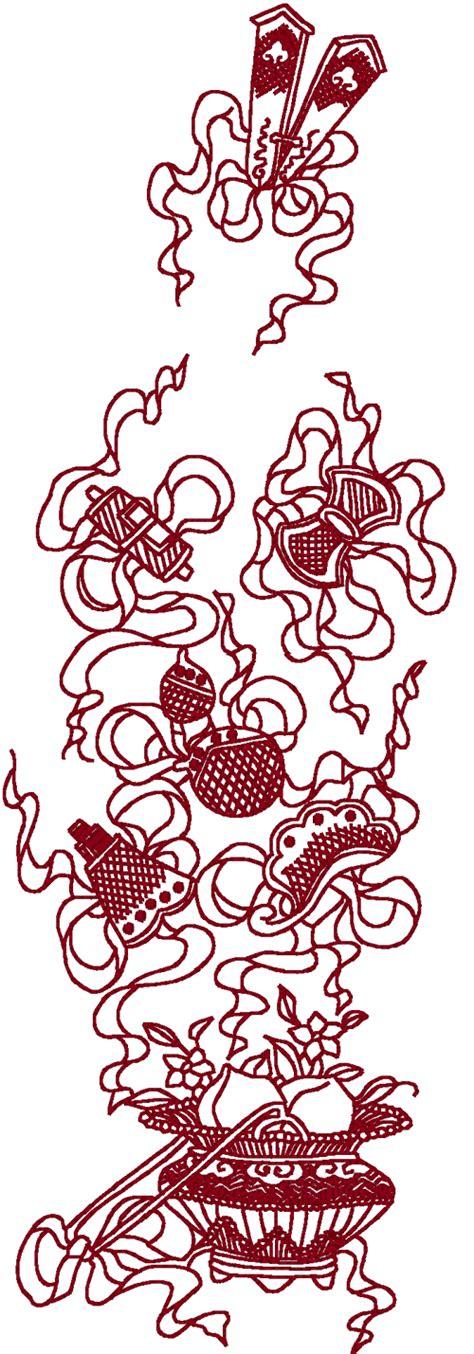 redwork oriental flora 1 embroidery design redwork oriental flora 4 embroidery design