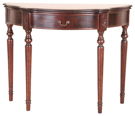 half moon table with drawers half moon carved console table with drawer contemporary